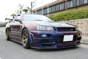 R34 Nissan Skyline Midnight Purple